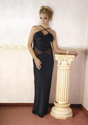 d011a723a7563d Seksowna i elegancka długa czarna sukienka będąca alternatywą dla  tradycyjnej damskiej bielizny erotycznej